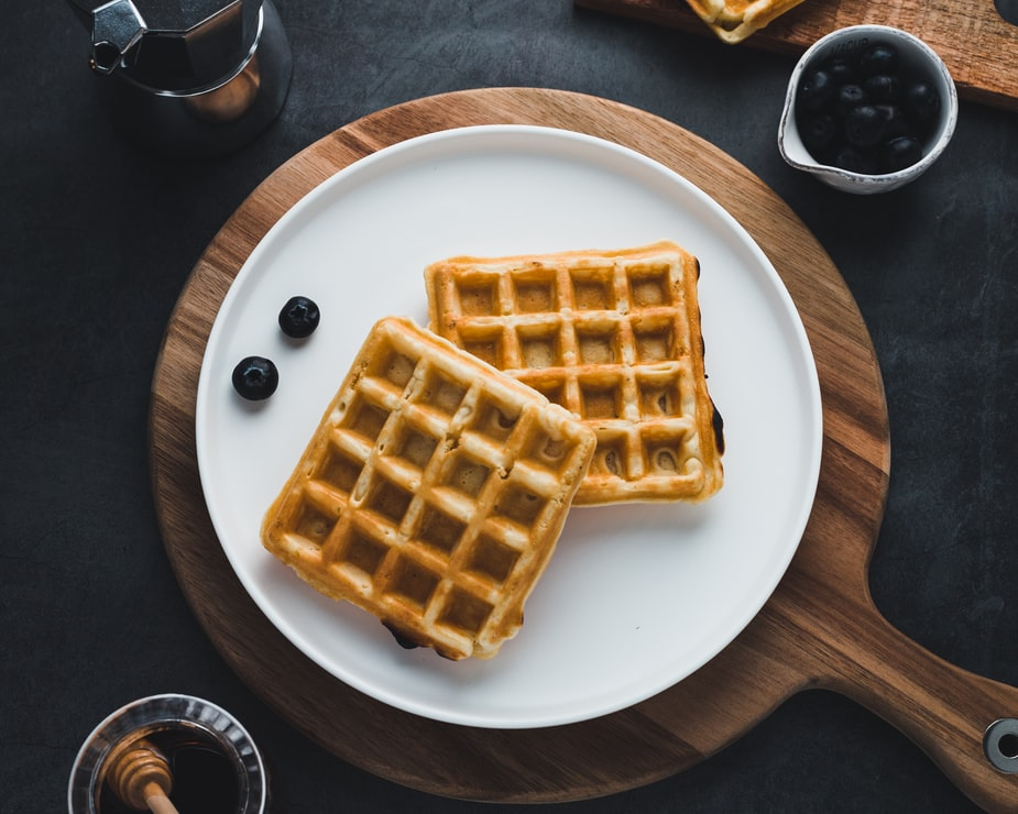 Waffles on a plate in Clearwater